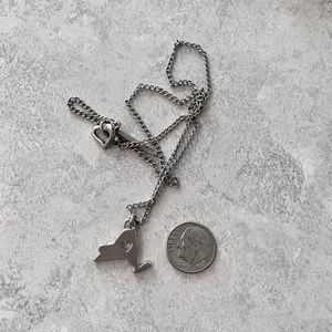 Jewelry - Silver New York State Heart Necklace